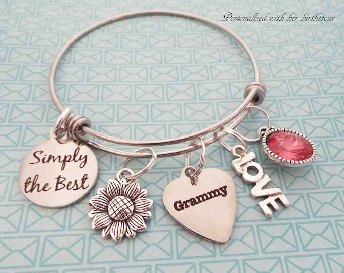 Grandmother Gift, Gift for Grandma, Grammy Gift, Grandchild Gift, Grandmother Birthday, Personalized Gift, Gift for Her, Grandma Bracelet