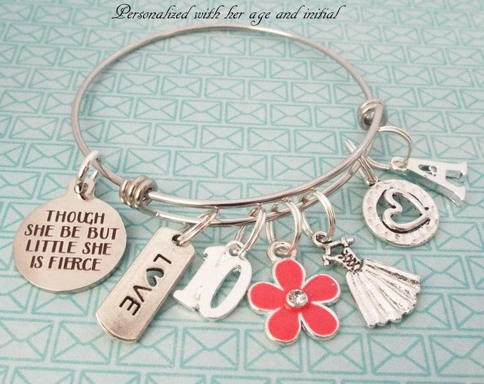 Girl's 10th Birthday Gift, 10th Birthday for Girl, Charm Bracelet for Girl Turning 10, Girl Birthday Gift, Gift for Her, Birthday for Her