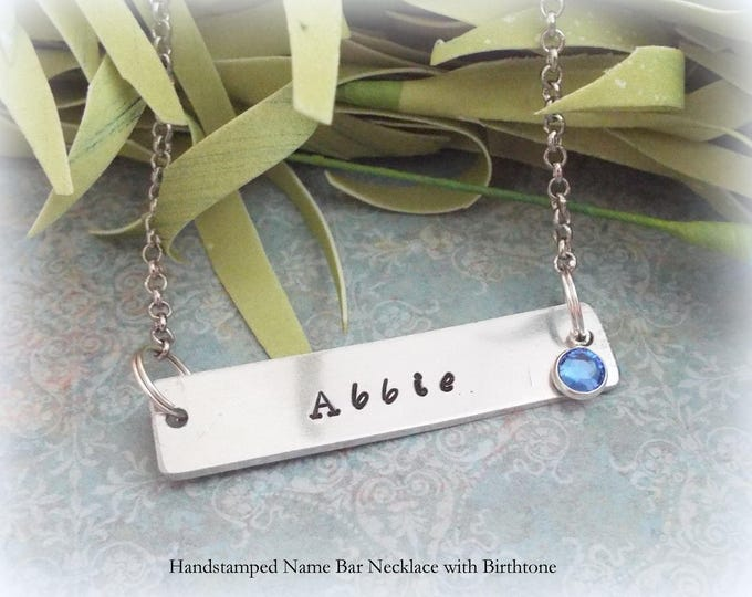 Name Bar Necklace, Birthday for Her, Personalized Gift, Daughter Birthday, Gift for Her, Girl Birthday Gift, Custom Jewelry, Niece Birthday
