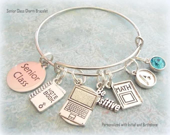 Senior Class Charm Bracelet, Girl Graduation Gift, Gift for Girl  Student, Graduation Gift for Girl, Personalized Graduation Gift, Girl Gift