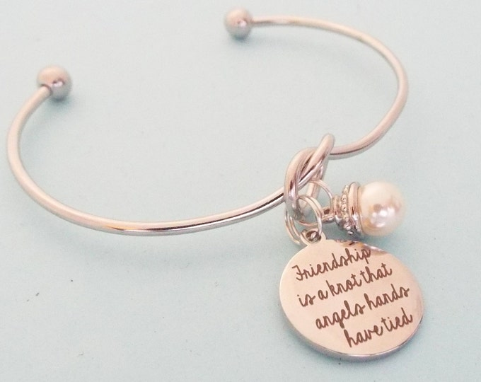 Christmas Gift Idea for Best Friend, Friendship Bracelet with Pearl, Gift Idea for Her, Infinity Bracelet, Bestie Birthday Gift for Her