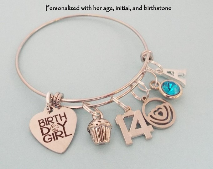 Girl 14th Birthday, Gift for Girl Turning 14, Personalized Birthstone Teenage Girl Birthday, Teenager Gift Ideas for Her, Daughter Gift