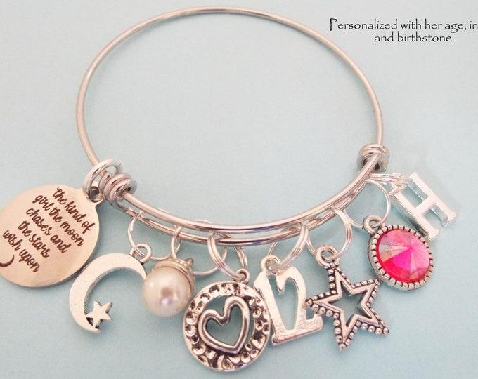 12th Birthday Gift Girl, Personalized Daughter Jewelry, Child Birthday Girl, Little Girl Charm Bracelet, Granddaughter Birthday, Niece Gift