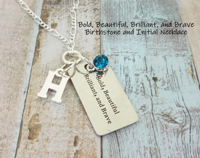 Daughter Necklace, Inspirational Jewelry, Birthstone Necklace, Gift for Girl, Teenage Girl Gift, Granddaughter Gift, Gift for Her, Girl Gift
