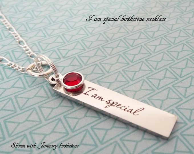 Birthstone Necklace, Birthday Girl Gift, Personalized Gift, Birthday for Her, Children's Jewelry, Girl's Birthday, Silver Necklace, Gift Her