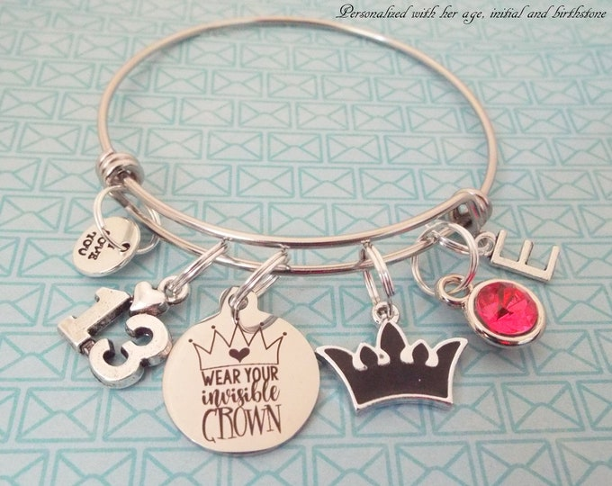 Girl Birthday Gift, Teenage Girl Gift, Daughter from Mom, Teenager Jewelry, 13 Year Old Girl, Personalized Gift, Custom Jewelry, Niece Gift