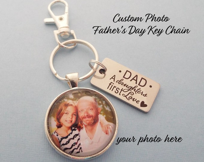Daughter to Father Gift, Dad Keychain, Gift for Dad, Father from Daughter Gift, Dad's Birthday Gift, Gift for Father, Personalized for Him