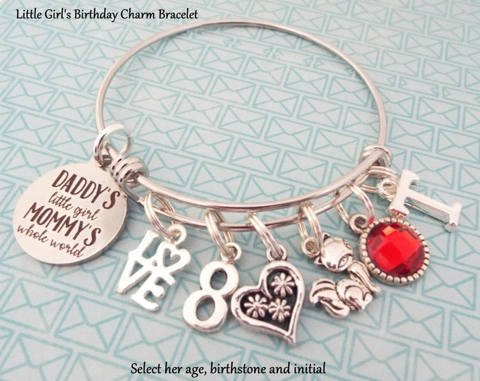 Little Girl Birthday Charm Bracelet, Birthday Gift for Young Girl, Birthday for Girl, Children's Birthday, Children's Jewelry, Gift for Her