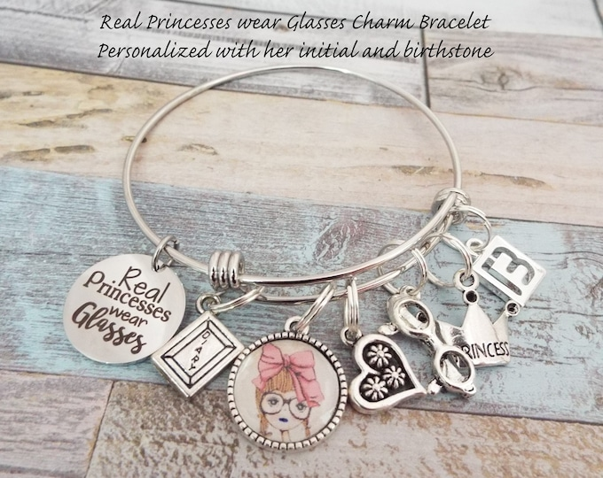 Princess Jewelry, Gift for Girl, Birthday Bracelet, Gift for Daughter, Gift for Granddaughter, Personalized Gift, Girl Gift, Birthday Girl