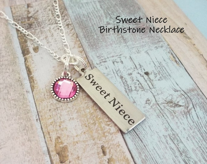 Niece Birthday Gift, Aunt to Niece Gift, Gift for Niece, Niece Jewelry, Birthstone Jewelry, Gift for Girl, Gift for Her, Niece Necklace