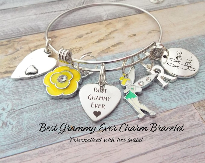Best Grammy Ever Charm Bracelet, Gift for Grandmother, Grandmother Birthday, Birthday Gift for Grammy, Grandmother Gift, Personalized Gift