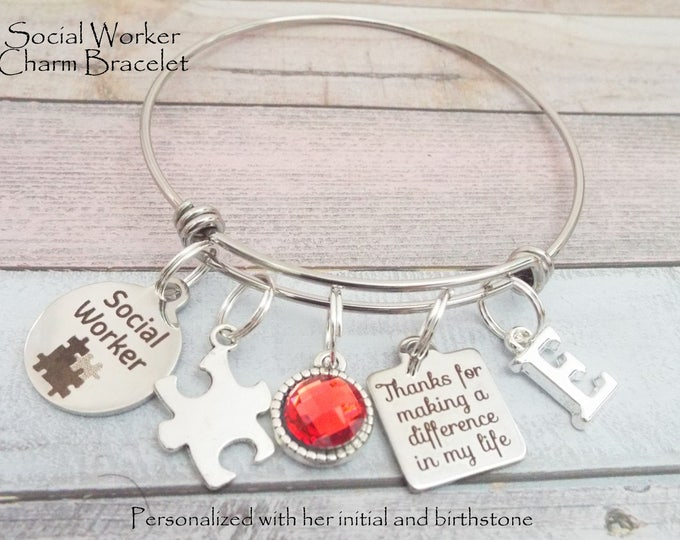 Gift for Social Worker, Social Worker Graduation, Personalized Gift for LSW, Gift for Her, Gift for Her, Woman Graduate Gift, Custom Jewelry