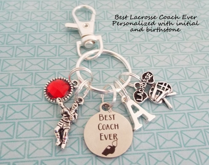 Lacrosse Coach Gift, Custom Keychain Lacrosse Player, Sports Gift, Personalized Gift, Thank You Gift, Coach Retirement, Gift for Him