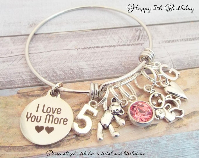 5th Birthday Girl, Gift for Girl Turning 5, Granddaughter Gift, 5 Year Old Girl Gift, Children's Jewelry, Child's Birthday Girl, Girl Gift