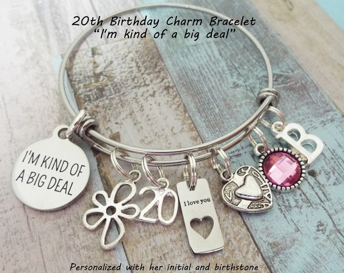 20th Birthday Gift, Birthday Gift for 20 Year Old, Gift for Her, Birthday for Her, Custom Jewelry, Personalized Gift, Women's Birthday