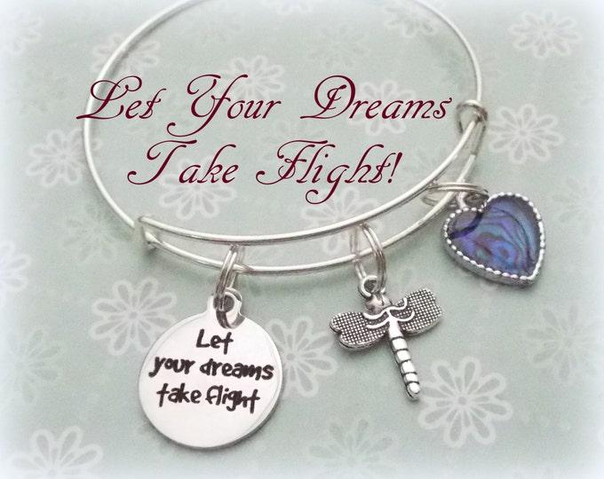 Girl Graduation Charm Bracelet, Gift for Girl Graduate, High School Graduation, College Graduation, Gift for Girl, Encouragement Gift