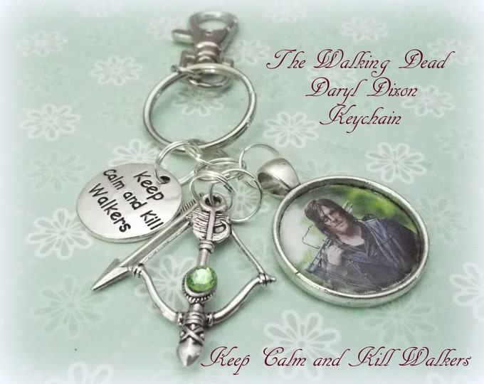 Daryl Dixon Keychain, Walking Dead Keychain, Gift for Walking Dead Fan, Personalized Keychain for Daryl Dixon Fan, Personalized Gift