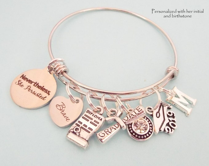 Graduation Gift for Woman, Gift for Girl Graduating 2019, Feminist Jewelry Gift, College Graduation, Woman Graduate, Personalized Gift,