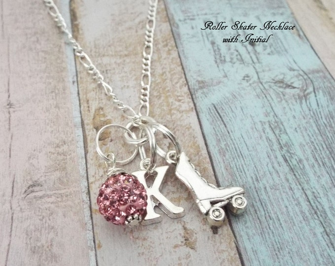 Girl Birthday Gift, Roller Skating Jewelry, Gift for Roller Skater, Sports Jewelry, Personalized Gift, Gift for Her, Silver Necklace