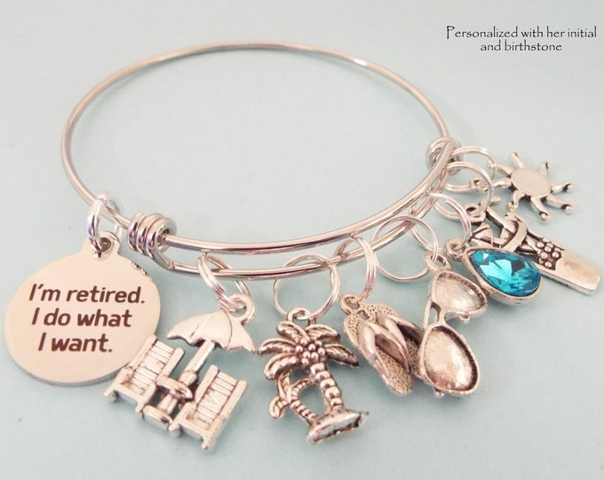 Retirement Gift for Women, Boss Retirement, Retiring Gifts, Personalized Woman's Jewelry Gift, Birthstone Jewelry Gift Idea for Her