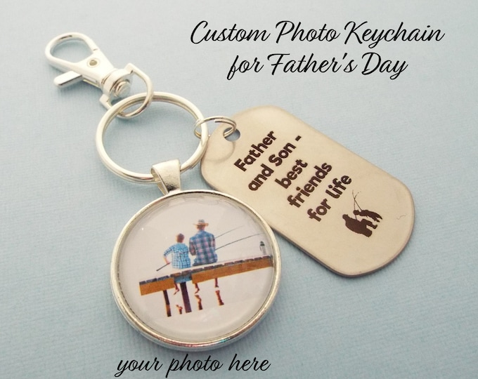 Son to Father Gift, Dad Fishing Keychain, Christmas Gift for Father, Gift for Dad, Personalized Gift, Gift for Him, Son to Dad, Man's Gift