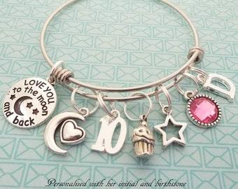 5th BIRTHDAY GIRL BRACELET Birthday Charm Bracelet 5 Year Old Daughter Gift