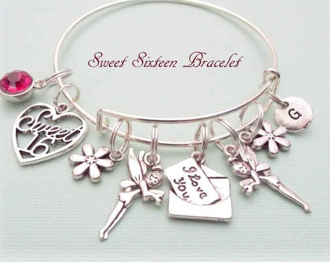 Sweet 16 Gift, Sweet 16 Charm Bracelet, Gift Ideas for Her, Teenage Girl Gift Ideas, 16th Birthday Gift, Sweet 16 Birthday Gift