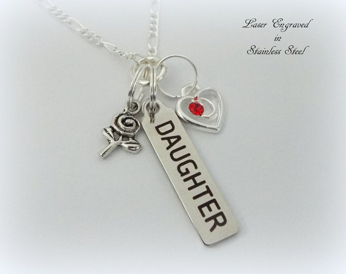 Daughter Necklace, Gift for Daughter, Father Daughter Gift, Charm Necklace, Custom Jewelry, Gift for Her, Jewelry for Her, Mother Daughter