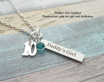13th Birthday Name Bar Necklace Gift For 13 Year Old Girl Daughter From Dad Personalized Custom Jewelry
