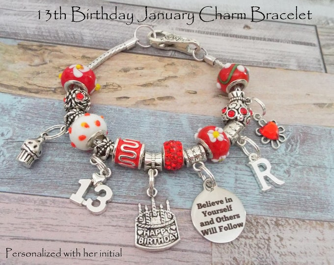 13th Birthday Girl, January Birthday Gift for 13 Year Old Girl, January Birthstone Jewelry, Gift for 13 Year Old Girl, 13th Birthday Gift