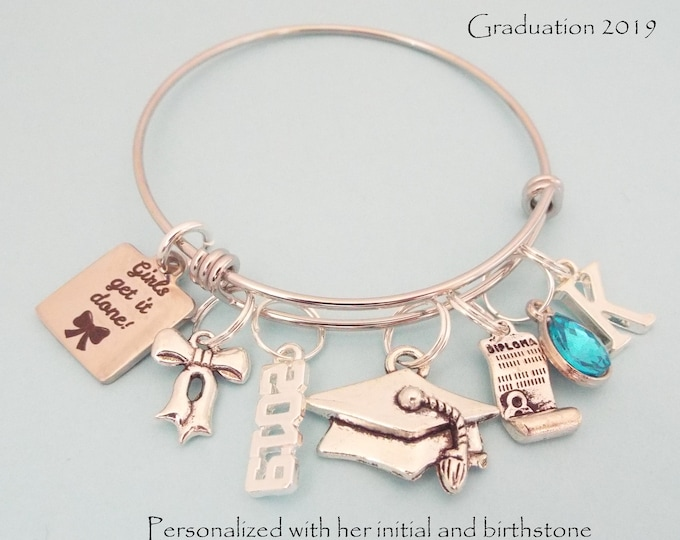 Graduation Gift for Girl Graduating 2019, Personalized Jewelry for Women, High School Graduate, College Graduation, Gift for Her, Class 2019