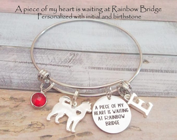 Rainbow Bridge Charm Bracelet, Pet Loss Gift, Gift for Loss of Pet, Dog Memorial Jewelry Gift, Animal Lover Gift Idea, Gift Ideas for Her