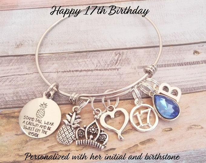 Girl's 17th Birthday Gift, 17th Birthday Girl, Gift 17 Year Old Girl, Birthday Girl Gift, Personalized Gift, Custom Jewelry, Gift for Her