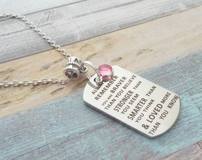 Daughter Gift, Silver Necklace, Personalized Gift, Girl's Birthday, Gift for Her, Birthstone Jewelry, Gift for Niece