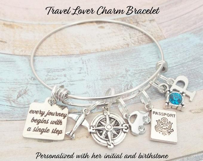 Travel Lover, New Job Gift, Encouragement Gift , Congratulations Gift, Moving Away, Gift for Her, Girl's Graduation Bracelet, Gift For Her