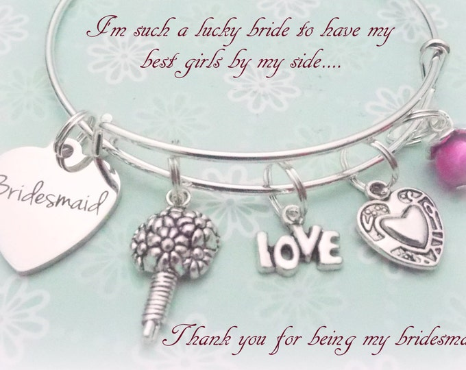 Bridesmaid Gift, Gift from Bride, Bride to Be, Bridal Jewelry, Be My Bridesmaid, Bride Gift Ideas, Bride to Bridesmaid, Bridal Gifts