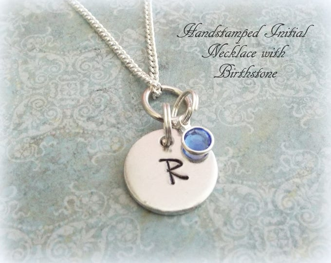 Initial Disc Necklace, Initial Charms, Personalized Necklace, Personalized Jewelry, Custom Necklace, Personalized Gift, Letter Necklace