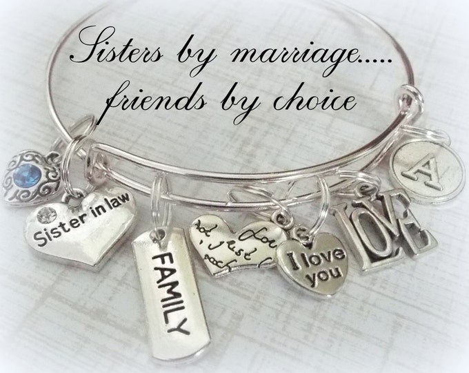 Sister-in-Law Gift, Personalized Jewelry, Gift for Sister-in-Law, Sister Personalized Gift, Sister in Law Gift, Wedding Gift, Sister Gift