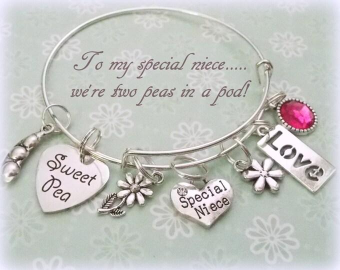 Niece Gift, Niece Charm Bracelet, Jewelry for Niece, Gifts for Niece, Aunt to Niece Gift, Niece Jewelry Gifts, Aunt Jewelry, Aunt Gifts