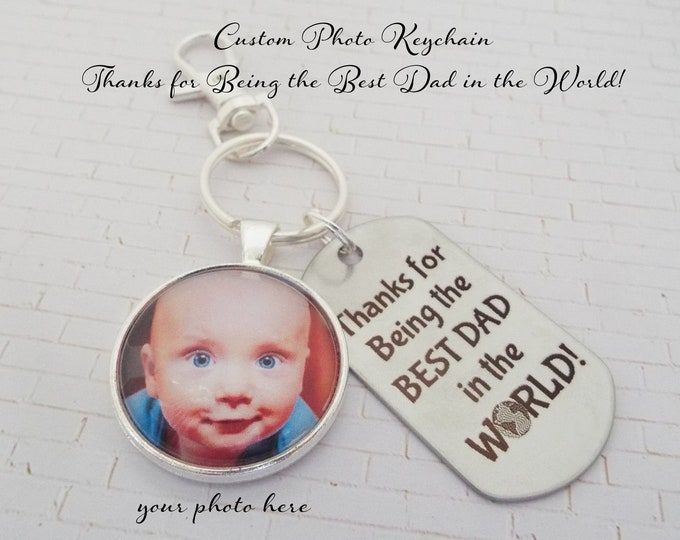 Father Gift, Dad Christmas Keychain, Personalized Gift, Gift for Man, Custom Keychain, Father Christmas, Dad Birthday, Gift from Child