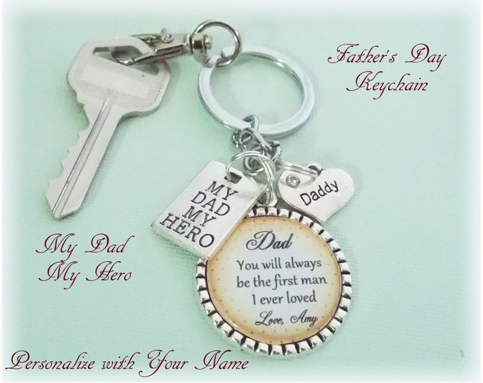 Father's Day Gift, To Dad from Daughter Gift, Gift for Father, Father's Day Gift from Daughter, Dad Keychain, Personalized Gift