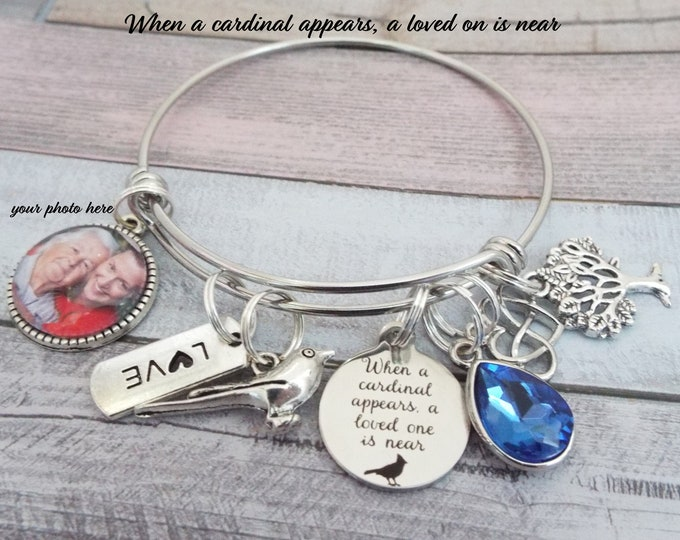 In Memory Charm Bracelet, Memorial Jewelry, Grief and Mourning Gift, Loss of Loved One, Sympathy Gift, Personalized Gift, Woman Gift