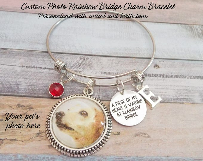 Gift for Loss of Pet, Pet Loss of Dog, Rainbow Bridge Charm Bracelet, Sympathy Gift Loss of Dog, Gift for Loss of Pet, Dog Lover