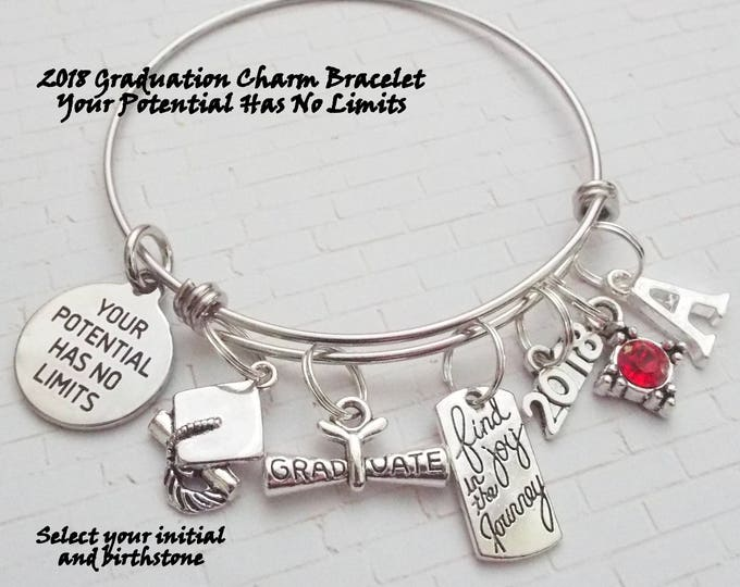 Graduation Gift, 2018 Graduation Gift, Congratulations Graduate, College Graduation, High School Class of 2018 Gift, Personalized Jewelry