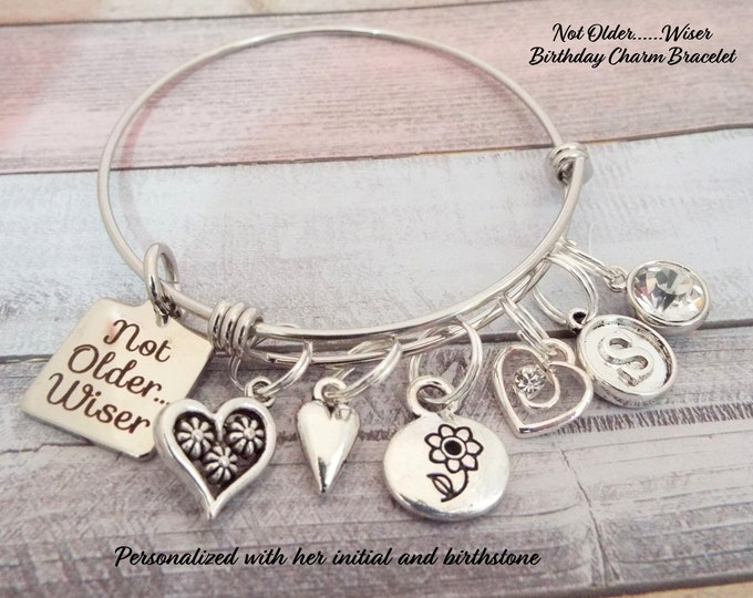Woman's Birthday Gift, Birthday Charm Bracelet, Gift for Her, Personalized Gift, Custom Jewelry, Gift for Her, Birthday Gift for Women