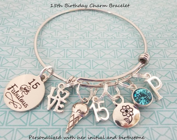 15th Birthday for Girls, Girl's 15th Birthday, Daughter's 15th, Birthday for Her, Birthday for Girl, Niece  Birthday, Gift for Her, Jewelry