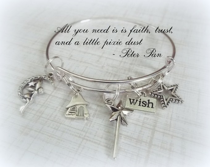 Fairy Lover Gift, Make a Wish Fairy Jewelry, Gifts for Her, Whimsical Jewelry, I Still Believe in Fairies Bracelet, Gift for Friend