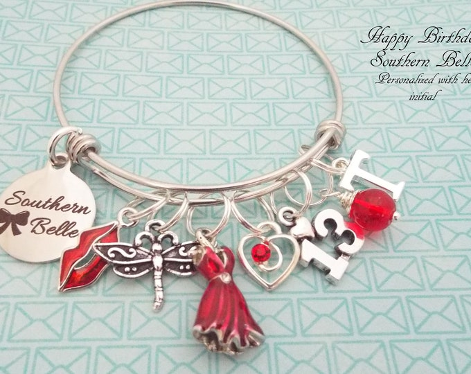 13th Birthday Girl, Girl Turning 13 Charm Bracelet, Teenage Girl Birthday, Personalized Gift, Custom Jewelry, Silver Bracelet, Gift for Her