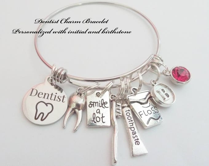 Gift for a Dentist, Dentist Charm Bracelet, Dentist Gift Ideas, Dentist Graduation Gift, Custom Gift for a Dentist, Congratulations Dentist