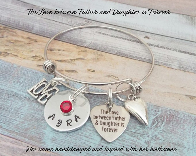 Father to Daughter, Gift for Daughter, Dad to Daughter Gift, Daughter Gift From Father, Father to Daughter Charm Bracelet, Gift for Her
